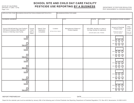 Form DPR-ENF-117  Printable Pdf