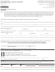 "Form DPR-PML-006 ""Fee Exempt Pest Control Business"" - California"