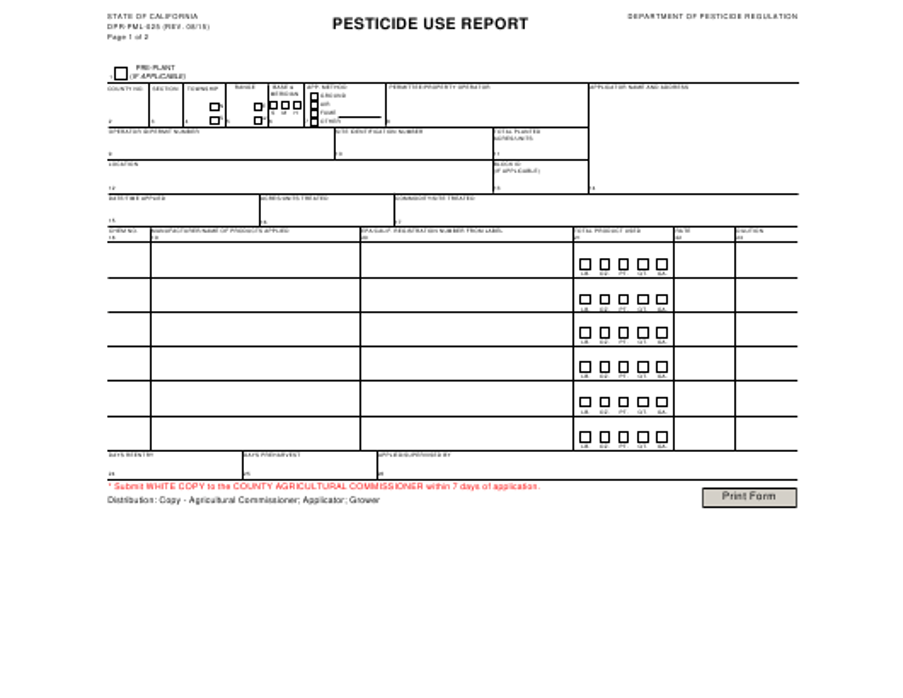Form DPR-PML-025  Printable Pdf