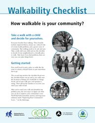 """""""Walkability Checklist"""""""
