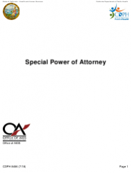 Form CDPH 8456 Special Power of Attorney - California