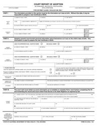 Form VS 44 Court Report of Adoption - California