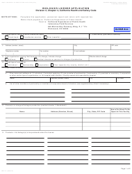 "Form LAB114 ""Biologics License Application"" - California"