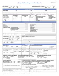 "Form CS106190 (CDC71.17) Appendix 17 ""Congenital Rubella Syndrome Case Report"""