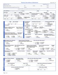 "Form CS106190 Appendix 18 ""Tetanus Surveillance Worksheet"""