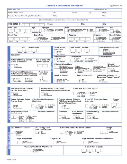Form CS106190 Appendix 18  Printable Pdf