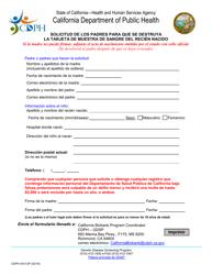 Form CDPH 4410 SP  Fillable Pdf