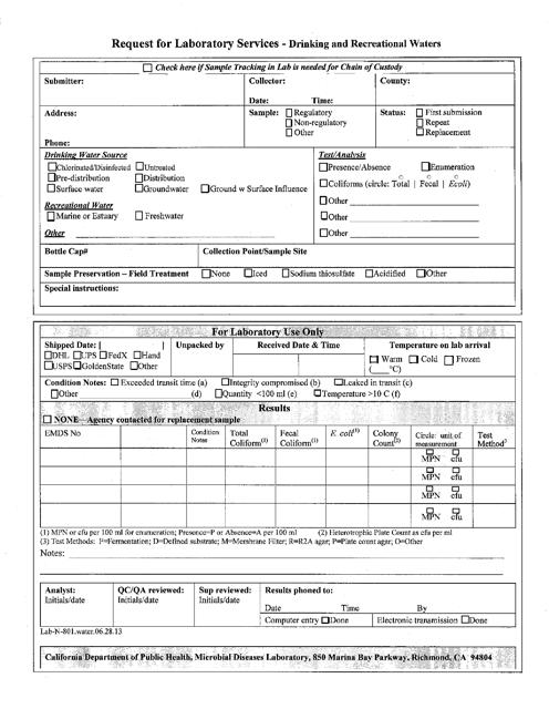 Form Lab-N-801  Printable Pdf