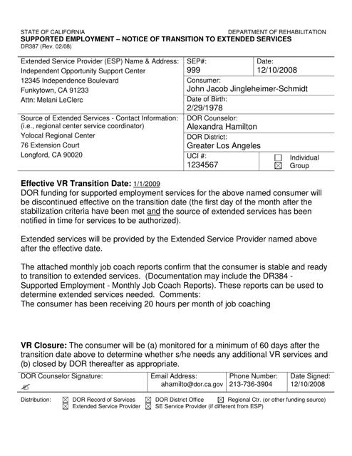 Form DR387  Printable Pdf