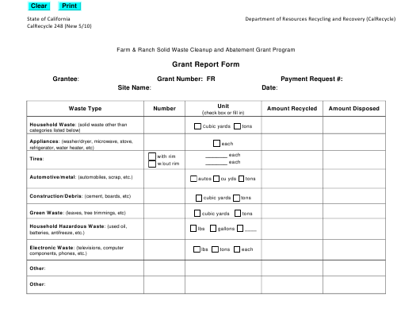 Form CalRecycle248  Printable Pdf
