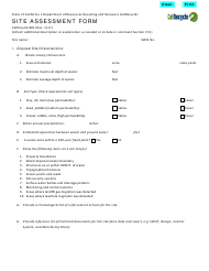 "Form CalRecycle881 ""Site Assessment Form"" - California"