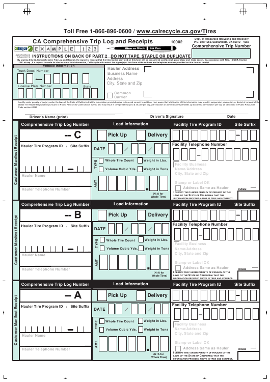 Form CalRecycle203 Printable Pdf