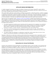 "Form CDTFA-232 ""Annual Certification Regarding Solicitation Activities"" - California"