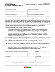 "Form CDTFA-82 ""Authorization for Electronic Transmission of Data"" - California"