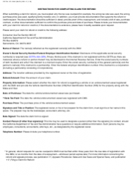 """Form CDTFA-101-DMV """"Claim for Refund or Credit for Tax Paid to Dmv"""" - California, Page 2"""