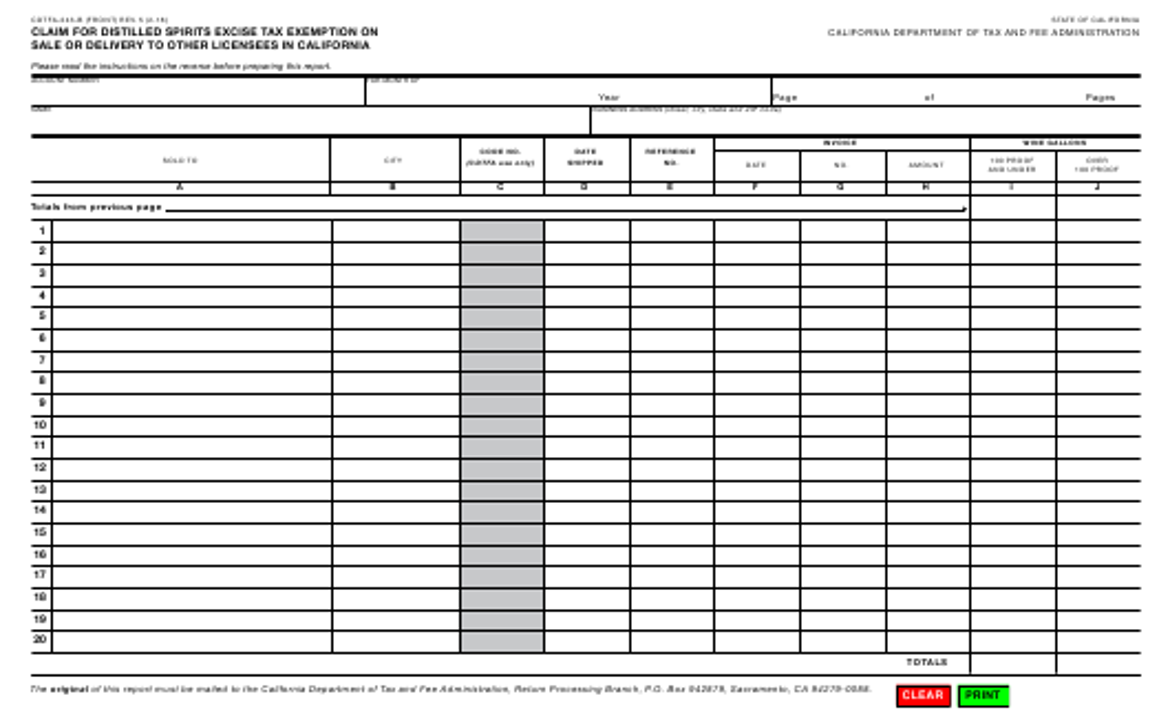 Form CDTFA-243-B  Printable Pdf