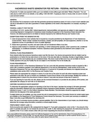 """Form CDTFA-501-FHG """"Hazardous Waste Generator Fee Return - Federal"""" - California, Page 2"""