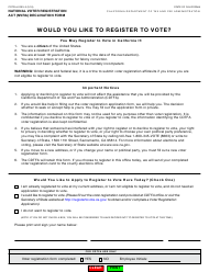 Form CDTFA-6 National Voter Registration Act (Nvra) Declination Form - California
