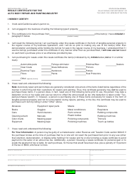 "Form CDTFA-230-A ""Resale Certificate for the Auto Body Repair and Painting Industry"" - California"