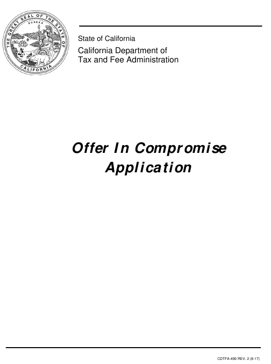 Form CDTFA-490  Printable Pdf