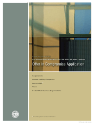 "Form CDTFA-490-C ""Offer in Compromise Application"" - California"