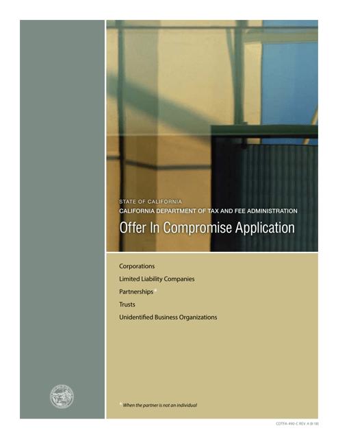 Form CDTFA-490-C  Printable Pdf