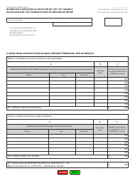 "Form CDTFA-531-H Schedule H ""Detailed Allocation by City of Taxable Sales and Use Tax Transactions of $500,000 or More"" - California"