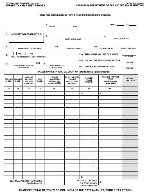 Form CDTFA-401-APT  Printable Pdf