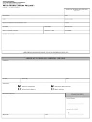 Form OTECH 110 Processing Credit Request - California