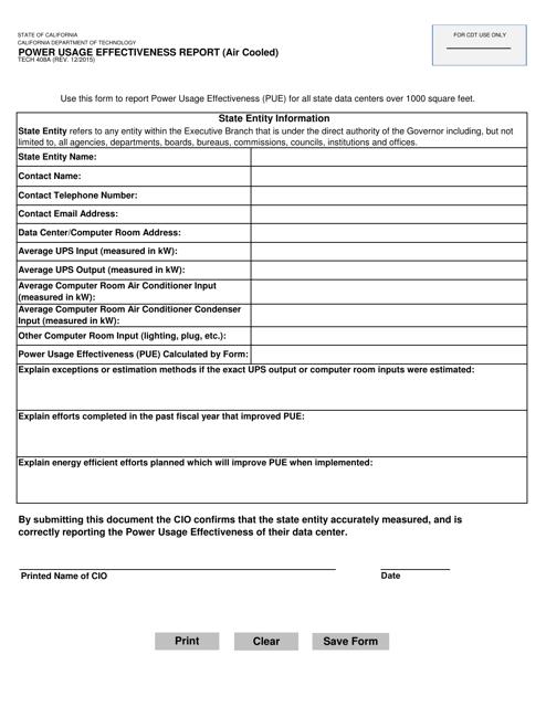 Form TECH408A  Printable Pdf