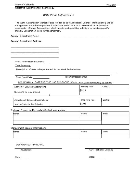 Form PO8399  Printable Pdf
