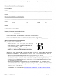 """DTSC Form 1478 """"Notification for Exporting Electronic Waste"""" - California, Page 2"""