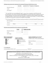 """DTSC Form 1478 """"Notification for Exporting Electronic Waste"""" - California, Page 3"""