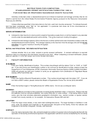 "Instructions for Form DTSC1093A ""Standardized Permit Notification for Existing or Proposed Hazardous Waste Facilities"" - California"