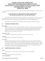 DTSC Form DTSC 1094B Permit by Rule Notification for Proposed Facilities - California