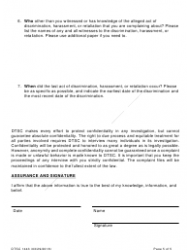 """DTSC Form 1443 """"Civil Rights Complaint Form"""" - California, Page 5"""