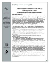 Nonemergency Hazardous Substance Release Report Form - California