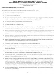 """""""Nonemergency Hazardous Substance Release Report Form"""" - California, Page 10"""