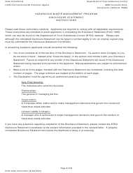 "DTSC Form 1365 ""Disclosure Statement - Hazardous Waste Management Program"" - California"