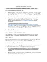 Instruction for Epa Form 8700-22 - Uniform Hazardous Waste Manifest