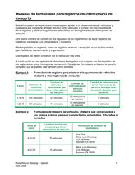 Modelos De Formularios Para Registros De Interruptores De Mercurio - California