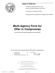 "Form DE999CA ""Multi-Agency Form for Offer in Compromise"" - California"
