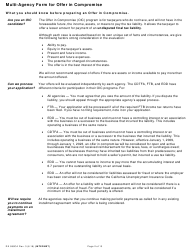 "Form DE999CA ""Multi-Agency Form for Offer in Compromise"" - California, Page 2"