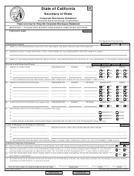 """Form SI-PT """"Corporate Disclosure Statement (Domestic Stock and Foreign Corporations)"""" - California, Page 3"""