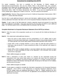 """Form SI-PT """"Corporate Disclosure Statement (Domestic Stock and Foreign Corporations)"""" - California, Page 4"""