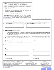 "Form LLP-4 ""Notice of Change of Status a Limited Liability Partnership (LLP )"" - California"
