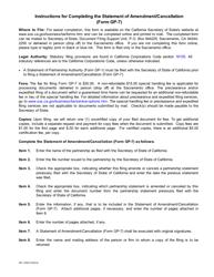 Form GP-7 Statement of Amendment/Cancellation - California