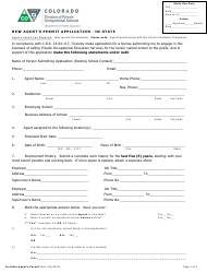 New Agent's Permit Application - in-State - Colorado
