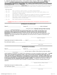 """""""New Agent's Permit Application Form - out-Of-State"""" - Colorado, Page 2"""