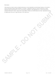"""""""Statement of Correction Removing the Assumed Entity Name - Sample"""" - Colorado, Page 2"""